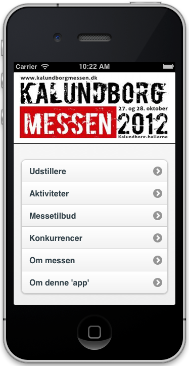Messe-app på iPhone